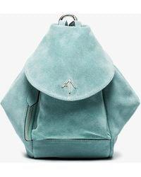 MANU Atelier | Blue Mini Fernweh Suede Backpack | Lyst
