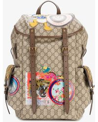 Gucci - Multi-patch Gg Supreme Backpack - Lyst