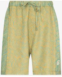 STORY mfg. Onda Spiral Shorts - Yellow