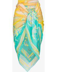 Emilio Pucci Printed Wrap Sarong - Yellow