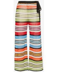 Mary Katrantzou - Rego Stripe Wide Leg Trousers - Lyst