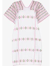 Pippa Holt Embroidered Kaftan Dress - White