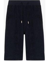 Sunspel Towelling Shorts - Blue