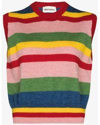 Molly Goddard Blair Striped Sweater Vest - Pink