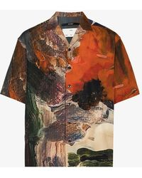 Song For The Mute Box Printed Shirt - Orange