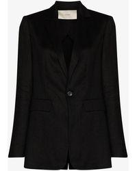 Asceno Azores Single-breasted Blazer - Black