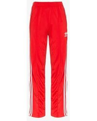 adidas Tri-stripe Track Trousers - Red