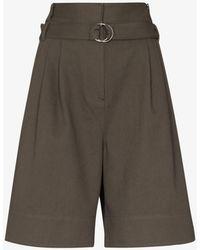 Tibi Jenson High Waist Shorts - Green