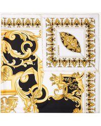 Versace - Multi Baroque Print Silk Foulard Scarf - Lyst