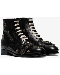 d68bd69dc64 Queercore Embroidered Brogue Boot - Black