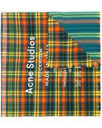 Acne Studios - Multicoloured Cassier Check Wool Scarf - Lyst