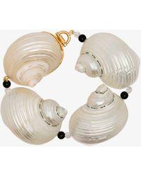 Prada Sterling Silver Oversized Shell Bracelet - White