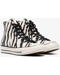 a53cc07da48b Converse - Black And White Chuck Taylor All Stars 70s Zebra Print High-top  Sneakers
