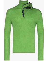 Y. Project Double Neckline Wool Jumper - Green