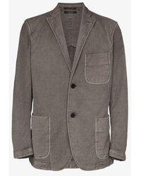Issey Miyake Relaxed Cotton Blazer - Gray