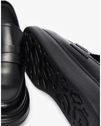 Alexander McQueen Hybrid Platform Leather Loafers - Black