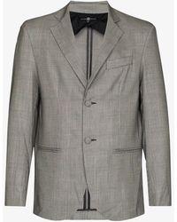 Edward Crutchley Checked Wool Blazer - Black