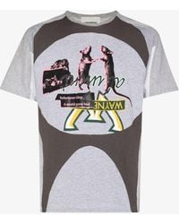Liam Hodges Splinter Printed Cotton T-shirt - Grey