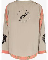 Kiko Kostadinov X Browns 50 Contrast Trim Logo Jacket - Grey