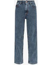 Matthew Adams Dolan High-rise Curved Leg Jeans - Blue