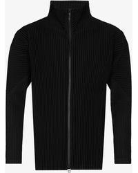 Issey Miyake Plissé Zip-up Track Jacket - Black