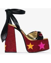 Saint Laurent Paige 85 Sandals - Red