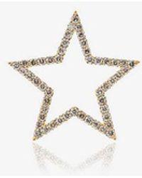 Rosa De La Cruz - 18k Yellow Gold Diamond Star Pendant - Lyst