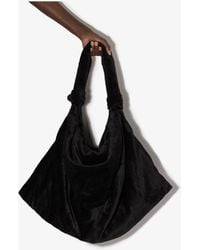 Lemaire Large Knotted Tote Bag - Black