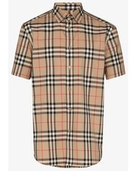 Burberry Short-sleeve Check Shirt - Multicolour