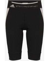 adidas By Stella Mccartney Contrast Panel Shorts - Black