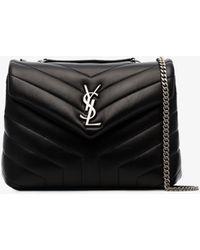 Saint Laurent Loulou Shoulder Bag - Black