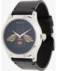 Gucci - G-timeless Bee Leather Watch - Lyst