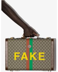 Gucci - Multicoloured Fake/not GG Supreme Suitcase - Lyst