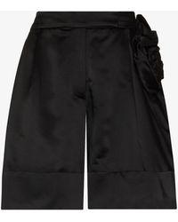 Simone Rocha Sculpted Rose Shorts - Black