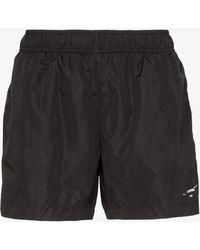 Off-White c/o Virgil Abloh Logo Print Swim Shorts - Black