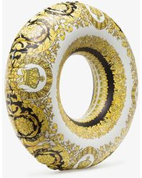 Versace Multicoloured Baroque Print Inflatable Ring - Yellow