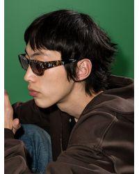 FLATLIST Frankie Safari Print Rectangular Sunglasses - Brown