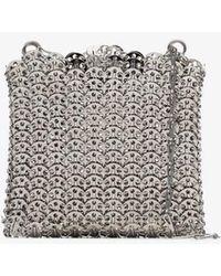 Paco Rabanne Silver Tone Iconic 1969 Chain Shoulder Bag - Metallic