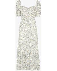 Reformation Charlee Floral Print Midi Dress - Multicolour
