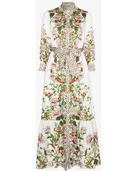 Borgo De Nor Demi Floral Maxi Shirt Dress - White
