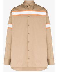 Heron Preston Reflector Cotton Shirt - Brown