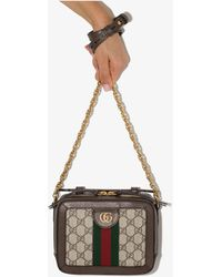 Gucci Ophidia GG Mini Monogrammed Cross-body Bag - Brown