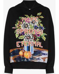 Ashish Hope Spring Eternal Sequin Hoodie - Black