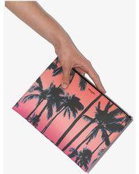 Saint Laurent Pink Palm Tree Print Pouch