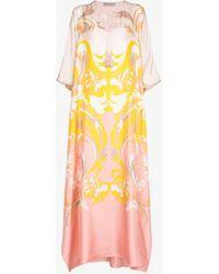 Emilio Pucci - Tropicana Print Silk Kaftan Dress - Lyst
