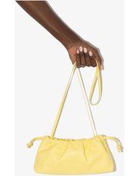 STUDIO AMELIA Maxi Drawstring Leather Bag - Yellow