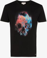 Alexander McQueen Skull-print Cotton T-shirt - Black