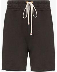 Les Tien Ragged Hem Drawstring Shorts - Grey