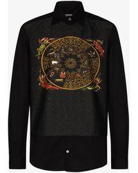 GmbH Luka Printed Overlay Shirt - Black