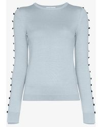 ADEAM - Button Arm Cashmere Sweater - Lyst